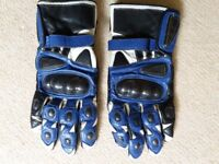 Leather Motorcycle Gloves - XL - with Kevlar insert