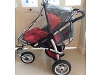 Quinny Speedi SX Pushchair. Red, silver and black.