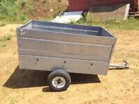 Caddy 5ft x 3ft Galvanised trailer + extension sides