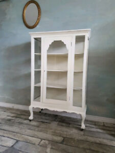 French Glass Cabinet for your Shoes and Purses!
