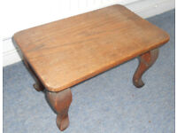 Solid Oak Stool or Low Table