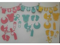 BABY SHOWER DIE CUTS SCRAP BOOKING INVITATIONS CARDS