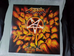 ANTHRAX WORSHIP MUSIC  MARBLE EFFECT VINYL BRAND NEW !