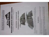 Kyham Quick erect motor home awning- Motordome/Screenhouse & Ridgdome