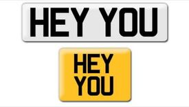 Hey You or HATE YOU H8 YUU private cherished personalised personal regstration plate number
