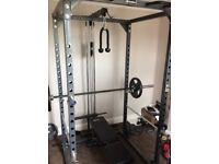 Bodymax cf 375 power rack, bench, cable tower