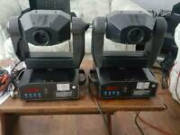 2 x acme spotknights moving head dj light