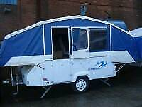 2007 dandy dimension 6 berth camper folding caravan/trailer tent