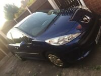 2008 PEUGEOT 207 1.4S, MET BLUE, LONG MOT