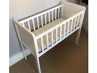 Mothercare Crib (White) & JL Mattress