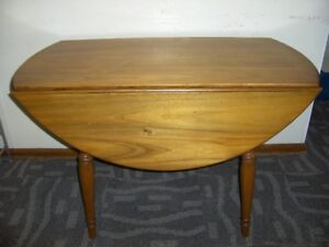 """NEW PRICE - - MAPLE 48"""" DROP-LEAF TABLE with 4 ARROW-BACK CHAIRS"""