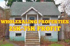 LOOKING TO MAKE PROFIT BY FIXING AND SELLING HOUSE?25-75K PROFIT