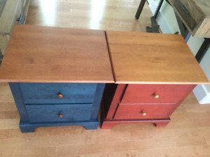 Pair of Solid Hardwood Nightstands