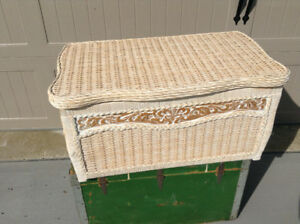 Beautiful wicker storage chest for sale