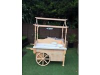 Lovely wooden sweet carts perfect for weddings. parties or baby showers