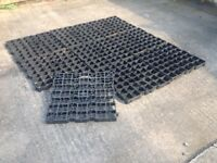Garden shed/path base kit. Heavy duty plastic interlocking units