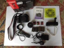 Canon 50 digital SLR camera + kit BARGAIN REDUCED. £325