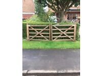 Timber driveway gates