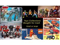 Old Toys Wanted! Any size collection. Star Wars , Lego , Misc. 70's/80's/90's Toys , Action Figures