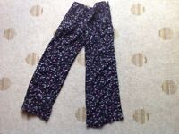 Girls star print loose trousers Age 9 years
