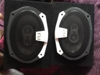 Fli integrator 375w 6x9 car speakers Alpine stereo head unit splx Amplifier 2 x smaller amps.