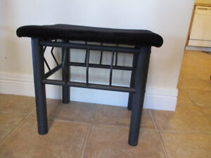 Small ottoman or make up desk bench seat