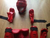 Warrior sparring gear - like new
