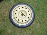 TOYOTA CELICA GT4 ST205 SPARE SPACE SAVING WHEEL AND BRIDGESTONE T125/70 D17 TYRE NEVER BEEN USED