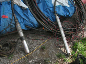 2 deep water well submersible pumps