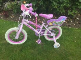 Kids Disney Princesses Bike with stabilisers - Very Good Condition