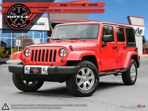 2013 Jeep WRANGLER UNLIMITED SAHARA 4WD W/DUAL-TOP 1-OWNER TRADE
