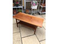 Solid teak retro modernist table £45