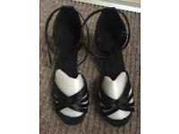 Black Latin dance sandals