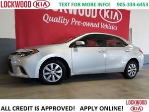 2016 Toyota Corolla LE - REARVIEW CAM, HEATED SEATS