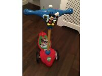 Mickey Mouse scooter toddler baby