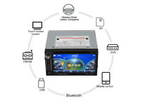 2 DIN Car Stereo, Touch Screen, DVD, MP3 player with Blue Tooth, USB/Aux in and Micro SD sockets