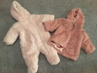 Girls Winter Coat and Snowsuit 3-6 Months