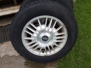 4 Snow Trackker tires on Alloy Rims