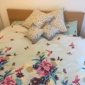 Sold pending collection - Ikea MALM Double Bed and Mattress