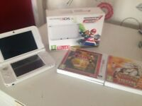 Nintendo 3ds XL mario kart edition with 3 games