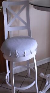 1 SINGLE TRICA CHATEAU METAL SWIVEL BAR COUNTER STOOL XXL Sturdy