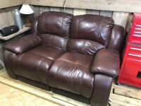 FREE 2 seater leather recliner