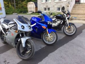 Three beautiful Honda motorcycles for sale