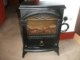 AS NEW FREE STANDING REAL COAL EFFECT CAST IRON BLACK FIRE