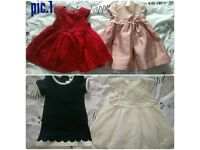 0-3 bundle of baby girls clothes and shoes