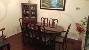 MAPLE DINING TABLE SET & Beautiful Wrought Iron Table Set