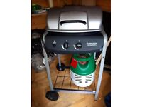 2 Burner Gas BBQ with gas bottle
