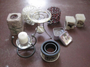 candle holders and candles ,sold complete --STRATHROY