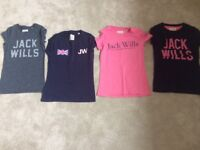 Jack Wills T shirts x4 Immaculate Condition