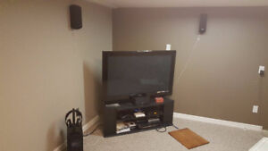"Palnasonic 50"" Plasma hdtv with bluray and sound system"